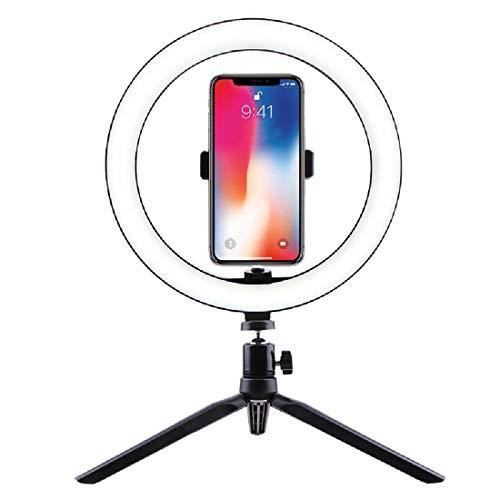 Desktop Bracket 26 Cm Fill Light, Mobile Phone Ring Light, Selfie Photography, Led Beauty Light With Tripod,Black-One Size