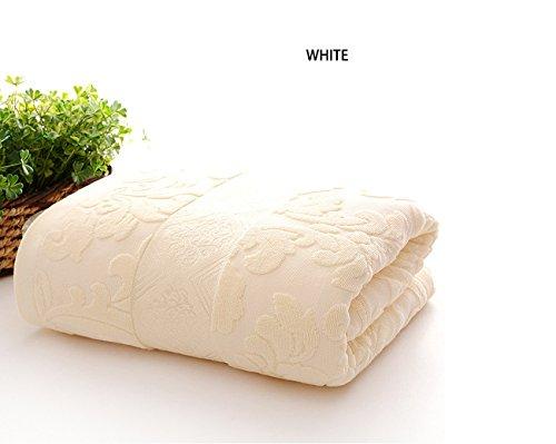 LHFJ Sommer Bettdecke 150 * 200 cm 100% Baumwolle Sommer Quilt Atmungsaktive Sommerdecke Frottierdecke (Farbe Blau, braun, grün, weiß) (Farbe : Weiß)