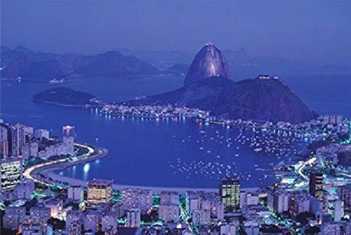 MTAMMD Puzzles Rio De Janeiro Brasile Città Paesaggio Jigsaw Puzzle 1000 Pezzi Puzzle di Carta per Adulti Decompressione 1000 Pezzi Puzzle Giocattoli-1000Pieces