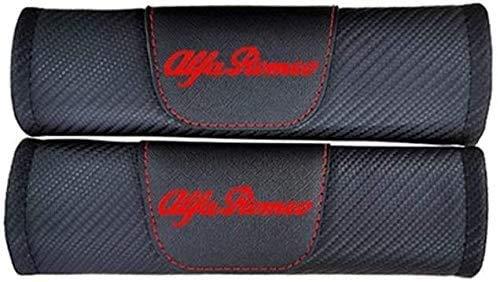 2 Piezas Almohadillas De La Cubierta del Hombro del CinturóN De Seguridad para Alfa Romeo 159 147 156 Giulietta 147 159, Respirable Protectores De Hombro Cobertores Auto Accesorios