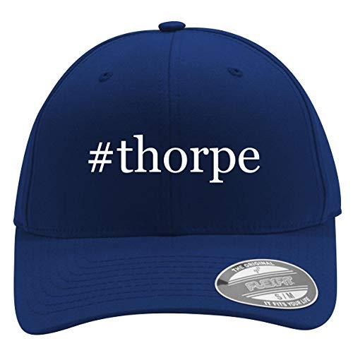 #Thorpe - Men's Hashtag Flexfit Baseball Cap Hat, Blue, Large/X-Large