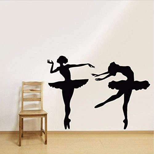 Wandtattoo Vinyl Aufkleber Kinderzimmer Ballett Gymnastik Ballerina Tänzer Ballett 57 * 80Cm