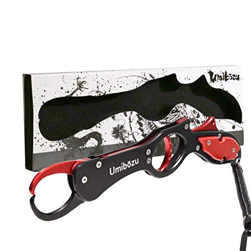 Umibozu(ウミボウズ) フィッシュグリップ 超軽量 アルミ製 魚掴み器 フィッシュキャッチャー (レッドブラック)