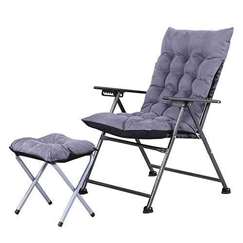 Dall Chaise Longue Pliante Chaise Longue Camping Loisirs Inclinables Chaise De Jardin Châssis en Acier Le Salon Chaise De Canapé (Color : Gray)