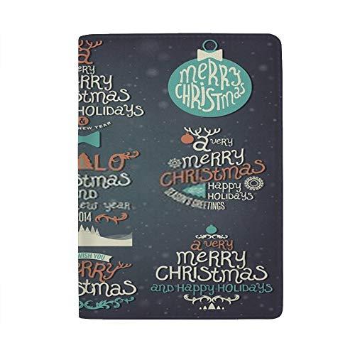 Chehong - Funda para Pasaporte de Navidad, Impermeable, para Tarjetas de felicitación,...