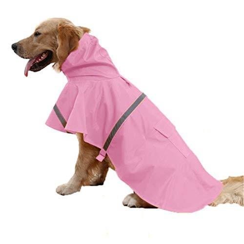 shuxuanltd Impermeable Perro Chubasquero Perro Pequeño Abrigos para Perros Impermeables y cálidos Abrigos para Perros Grandes Impermeables Blue,46