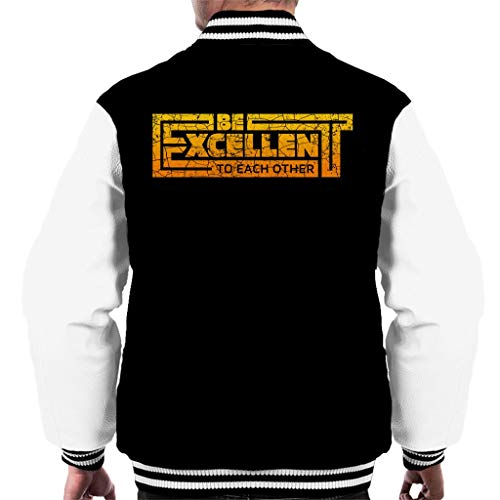 Be Excellent to Each Other Bill and Ted Men's Varsity Jacket