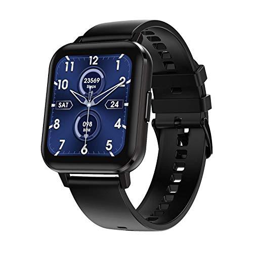 Microwear Bluetooth Smartwatch,DTX Fitness Tracker,Regalo para Hombres,Mujeres,Pantalla IPS,Deporte,Pantalla Táctil,Resistente al Agua,Batería Larga,para iOS Android. (Negro)