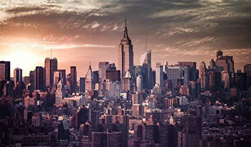 Kxch Malen nach Zahlen Erwachsene New York Vintage-Effekt Leinwand Malvorlagen Moderne DIY-Kits Kunstraum Einzigartiges Dekor Geschenk Rahmenlos 40X50Cm