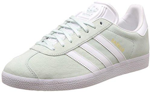 adidas Unisex-Erwachsene Gazelle Sneakers, Grün (Ice Mint/White/Gold Met),47 1/3