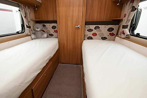 In Dreams Hoeslaken 2' x 6' 60cm x 183cm bed voor caravans camper boten 50/50 polykatoen