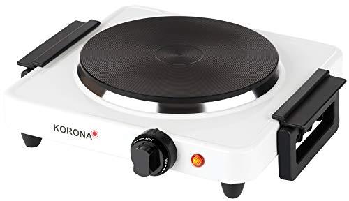 Korona 59030 Einzelkochplatte in weiß | Elektrische Kochplatte | 1500 Watt | klein und kompakt