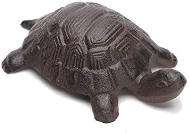 BRASSTAR Cast Iron Turtle Statue Home Office Desk Garden Lawn Decor Paperweight Collection Tortoise product image