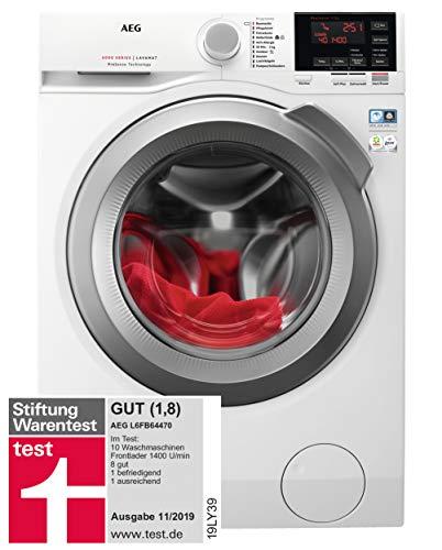 AEG L6FB64470 Waschmaschine Frontlader / 157,0 kWh/Jahr / Waschautomat mit Mengenautomatik / Schutz...