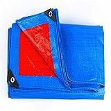 YINUO Cobertor de PVC grueso recubierto de tela resistente al fuego Tres antiropa Ropa ignífuga Cubierta de lluvia de alta temperatura Productos Impermeable Lona roja + azul (160 g/metro cuadrado, e