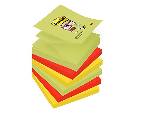 Post-it R3306SM Haftnotiz Super Sticky Z-Notes Marrakesh Collection, 76 x 76 mm, 6 Blöcke, 90 Blatt