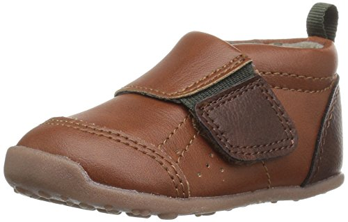 Carter's Every Step Stage 1 Girl's and Boy's Crawling Shoe, Alex, Brown/Green, 3 M US Infant
