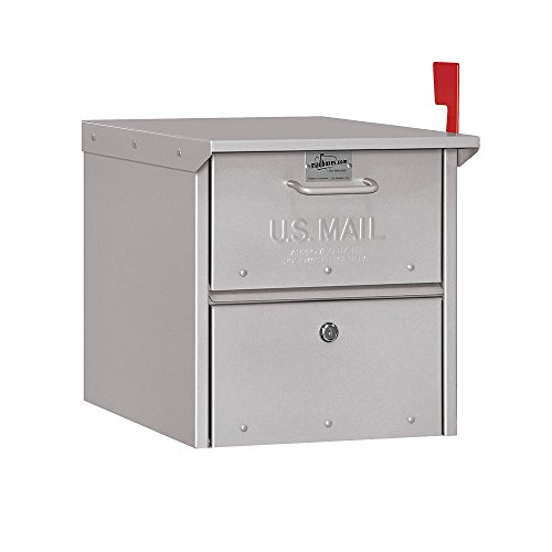 Salsbury Industries - 4325SLV Roadside Mailbox, Silver, 12.5 in. W x 13.625 in. H x 18.25 in. D