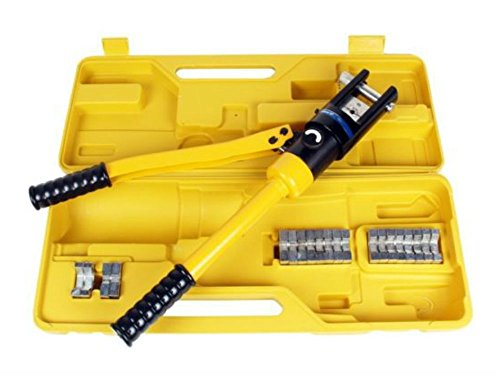 16 Ton Hydraulic Wire Crimper Crimping Tool Battery Cable Lug Terminal w/11 Dies