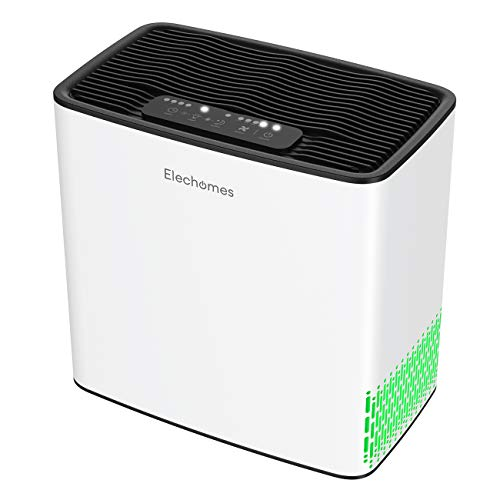 Elechomes P1801 Air Purifier for Home Bedroom Allergies and Pets Hair Smokers, True H13 HEPA F-ilter with 4 Stage Filtration, 22dB Quiet Air Cleaner Odor Eliminators for 269 sq.ft Room