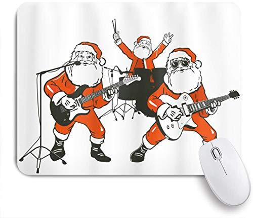 VORMOR Mauspad - Lustige Santa Claus Rock Band spielt Schlagzeug Gitarre Weihnachtsmann Show - Gaming und Office rutschfeste Gummibasis Mauspads,240×200×3mm
