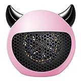 Pillows-RJF Calentador Eléctrico Portátil Que Ahorra Energía, Modelado Creativo Devil, Termostato, Calentamiento Rápido, Protección contra Sobrecalentamiento