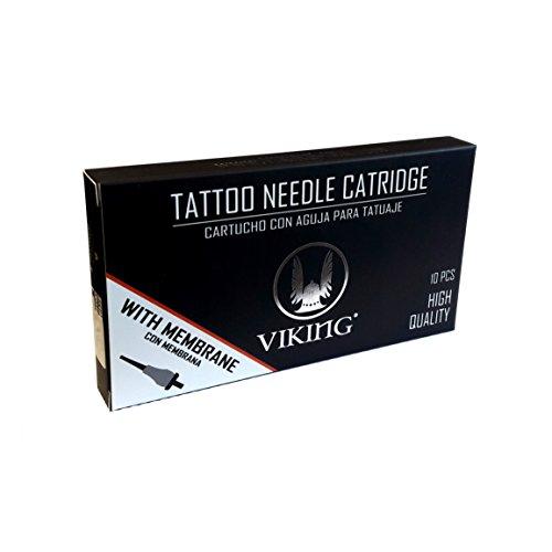Tattoo Nadeln 11 ROUND MAGNUM Packung mit 10 VIKING IKN USA Patronen - Hochwertige sterile Einwegnadeln ORIGINAL!
