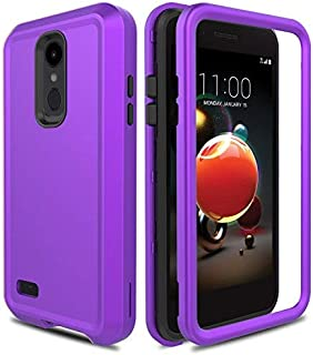 AMENQ Case for LG Aristo 2/LG Aristo 3/LG Tribute Empire/LG Tribute Dynasty/LG Rebel 3 LTE/LG Rebel 4, Heavy Duty Shockproof Silicone Rubber Shell and Anti-Resistant PC Armor Protective Cover(Purple)