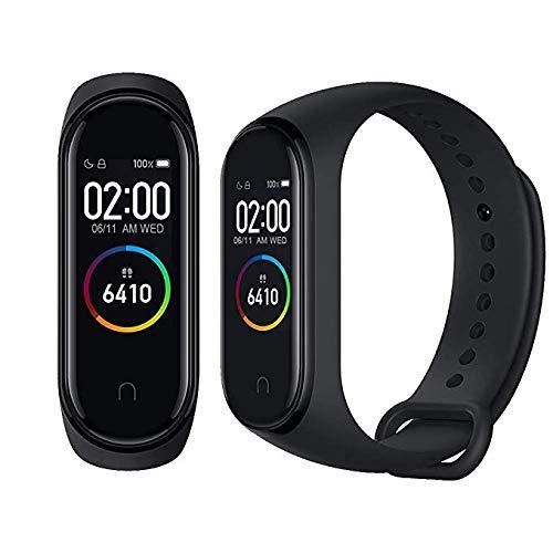 Xiaomi Mi Band 4 Pulsera de Actividad,Monitores de Actividad,Pantalla Pulsómetro Fitness Tracker, Pulsera Smartwatch con 0.95 Pantalla AMOLED a Color,con iOS y Android,Negro(Global Versión)
