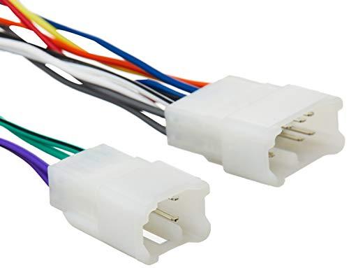 Scosche TA02B Kompatibel mit Select 1984–17 Toyota Power/Lautsprecheranschluss/Kabelbaum für Aftermarket-Stereo-Installation mit farbcodierten Drähten