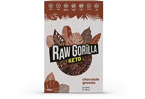 Raw Gorilla Keto Organic Chocolate Granola 250g | Vegan | No Added Sugar | Healthy | Breakfast