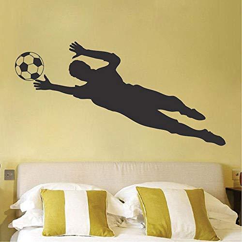 JXND Calcomanía de Pared de Portero de fútbol, Mural de fútbol, Arte, decoración de la Copa del Mundo, Papel Tapiz de Vinilo, Pegatina de Pared, 153X68CM