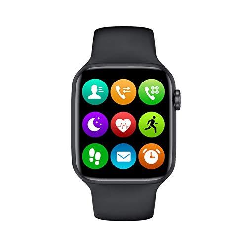 LXF JIAJU Smart para Apple Watch IP68 Rose 40mm 44mm Series 6 1.75 Pulgadas Llamada Bluetooth SmartWatch Tasa del Corazón PK IWO12 Q99 H55 (Color : Black, Size : M97mm)