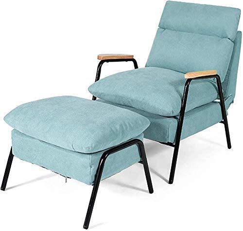Nordic Leisure - Sofá cama reclinable para cama individual, respaldo ajustable, sillón perezoso con reposapiés, sillón reclinable para balcón, varios colores - B