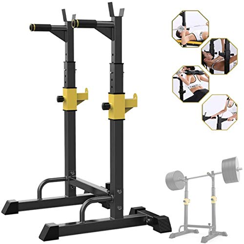 Adjustable Heavy Duty Squat Rack, Squat Rack Multifunction Stand for Lifting Sit Up, Home Gym and Full Body Workout(Maximum Bearing About 250Kg)