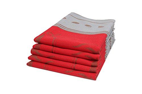 ZOLLNER 5er Set Geschirrtücher Baumwolle, 50x70 cm, rot (weitere verfügbar)