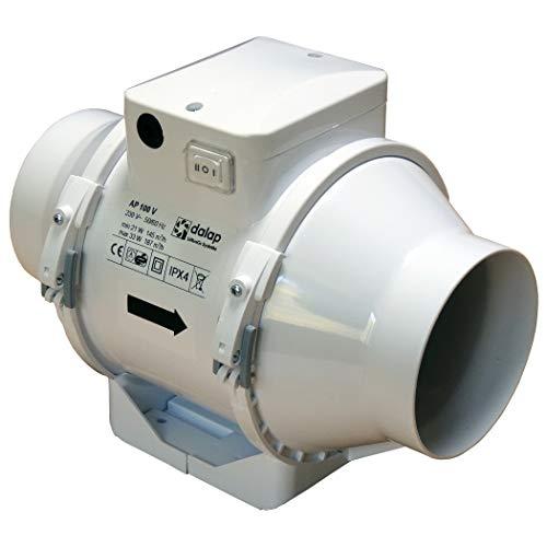 Rohrventilator Dalap AP 100 mit Einphasen-Motor, Kugellager & Überhitzungsschutz