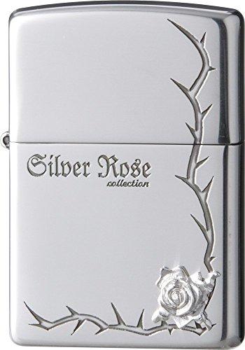 ZIPPO ジッポー オイルライター ローズ 純銀メタル コーナー 63250198