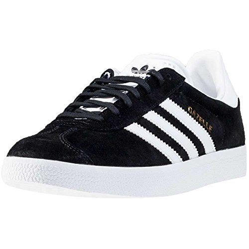 adidas Gazelle, Scarpe Running Unisex Adulto, Nero (Core Black/White/Gold Met), 38 2/3 EU