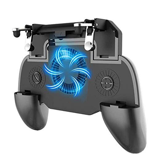 QCHEA Juego Grip con Ventilador de enfriamiento del Cargador portátil, for el Controlador de Juegos móvil PUBG L1R1 Joystick for teléfono de 4-6.5'
