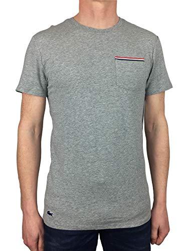 Lacoste Mens Lounge Katoen Crew Neck T-Shirt in Grijs