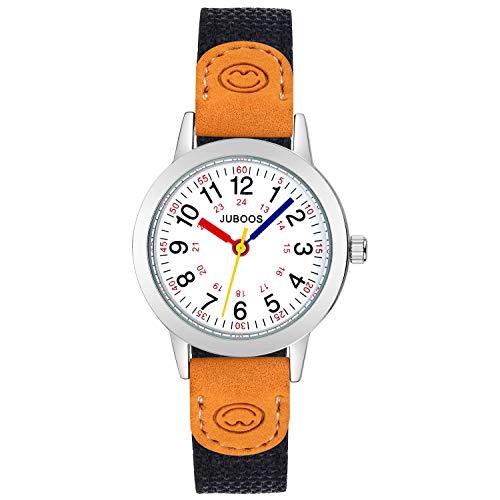 Kinder Analog Uhren Armbanduhr für Jungen Mädchen, wasserdichte Quarzuhr Uhren für Kinderuhr Mädchen (Schwarz)