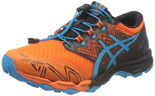 Asics Gel-Fujitrabuco Sky, Trail Running Shoe Hombre, Marigold Orange/Digital Aqua, 43.5 EU