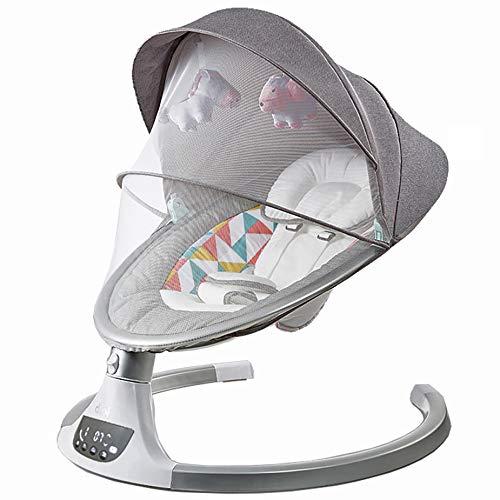 bon comparatif Balançoire bébé / chaise berçante électrique pour bébé ALPHA (gris) un avis de 2021