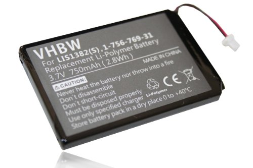 Batterie LI-Polymer 750mAh pour Sony Portable Reader remplace LIS1382(S), 1-756-769-31, 9702A50844, 9924A60515