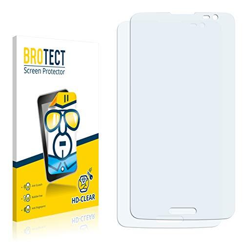 BROTECT Schutzfolie kompatibel mit LG G Pro Lite D684 (2 Stück) klare Bildschirmschutz-Folie