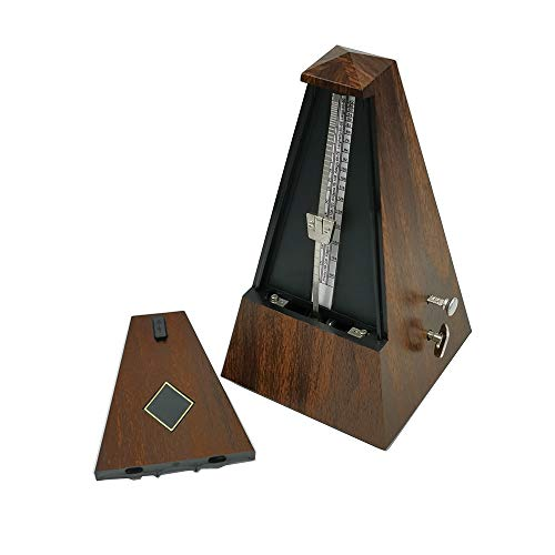 Mechanical Metronome with Bell, Traditional Triangle Metronome, Woodgrained Tower Metronome Tempo Range 40~208 bpm for Musicians, Piano Drum Practice by Bravodeal (Woodgrained)