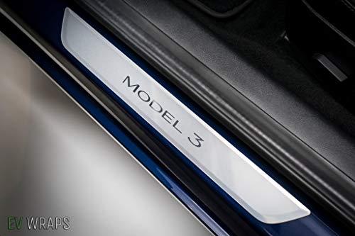 EV Wraps Tesla Model 3 / Model Y Door Sill Protector - Clear (2 Pieces) (Model 3)