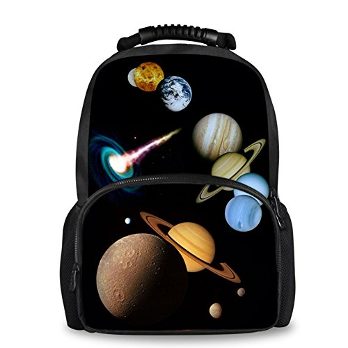 Coloranimal Moda Galaxy Mochila Universo Planetas Patrón Hombre Fieltro Mochila Niños Escuela Libreros