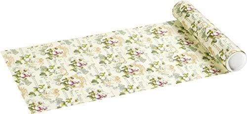 ROSE DE PRINTEMPS crème bloemen papier tafellopers 33cm x 6m sheer Table Runner I ply